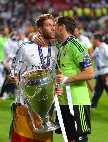 Dos símbolos del Real Madrid, Sergio Ramos e Iker Casillas.