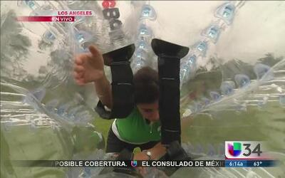 La fiebre del fútbol burbuja llegó a Los Ángeles