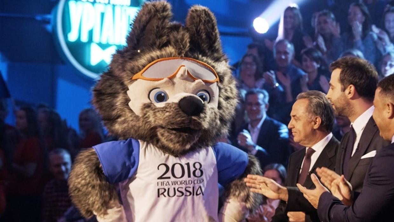 Un lobo de nombre 'Zabivaka', mascota oficial de Rusia 2018 Captura de p...