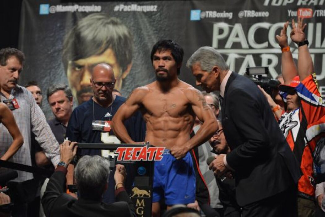 Manny Pacquiao dio 147 llibras, la frontera de la division welter.
