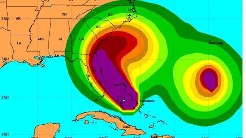 El huracán Matthew en su camino hacia Florida