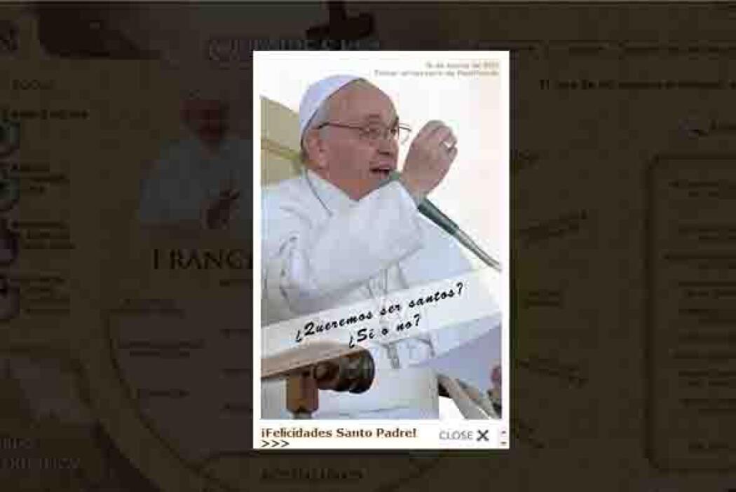 El 12 de marzo, a un día de su aniversario, el Vaticano publicó un álbum...