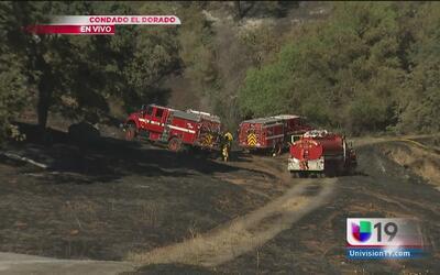 Incendio en el condado El Dorado