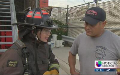 Un día de entrenamiento con los bomberos de Chicago