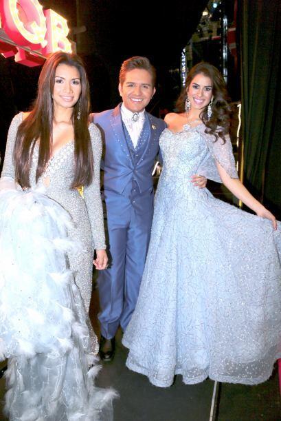 El Dasa con dos de nuestras reinas de Nuestra Belleza Latina, Marisela y...