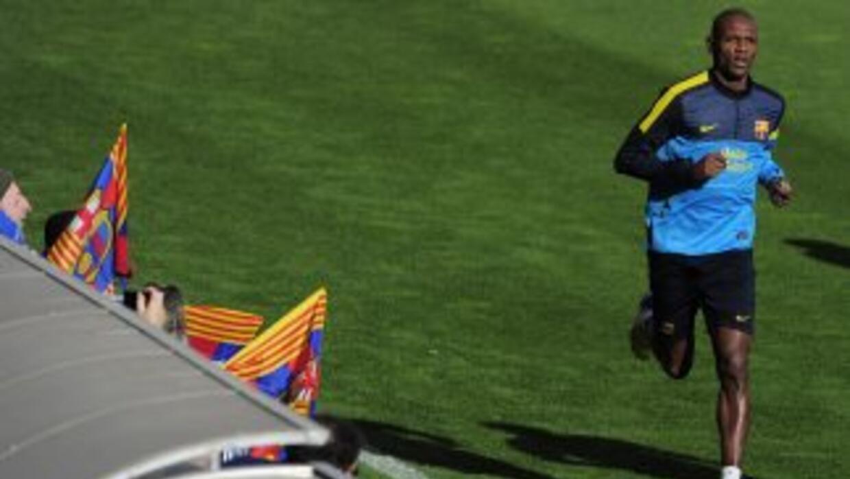 Abidal volvió a jugar un duelo, aunque amistoso, con el equipo filial de...