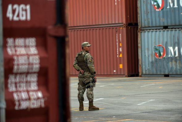 La carga militar, que no fue declarada ante las autoridades panameñas po...