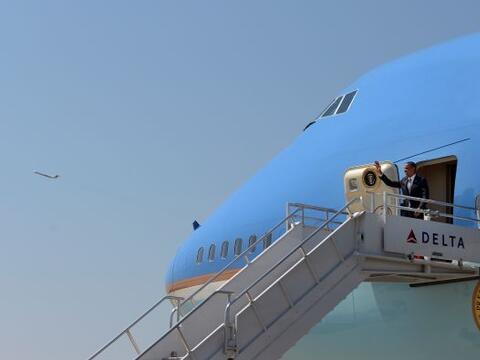 El Presidente Barack Obama llegó a Georgia la mañana del martes 26 de ju...