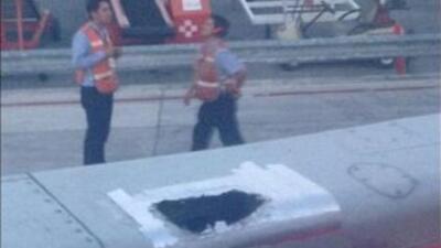 Las imágenes fueron publicadas por varios pasajeros en Twitter y Facebook.