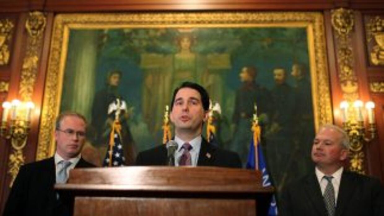Scott Walker, el gobernador republicano de Wisconsin, fue un feroz defen...