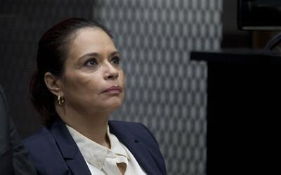La vicepresidenta de Guatemala Rozana Baldetti asiste a su audiencia en...
