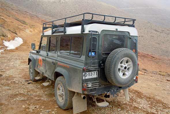 Solo con un vehículo así se pueden cruzar Los Andes.