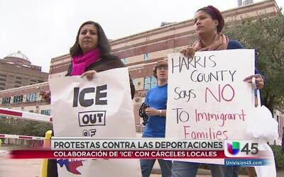 Protestas en Houston contra las deportaciones
