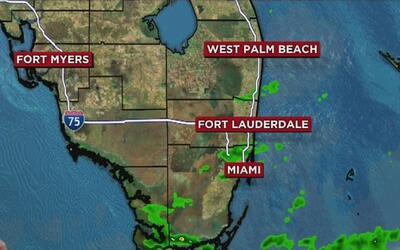 Actividad de lluvia con algo de viento este viernes en Miami