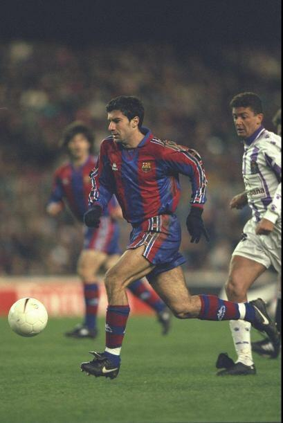 Luis Figo era sumamente querido por la afición culé, era un jugador de r...
