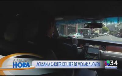 Acusan a chofer de Uber de violar a una joven en California