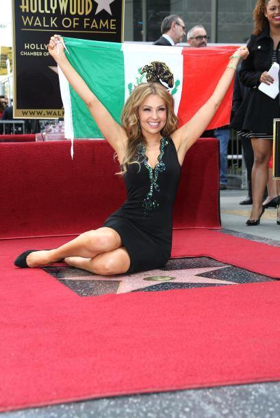 Ahora sí Thalía se convirtió en toda una estrella de Hollywood.