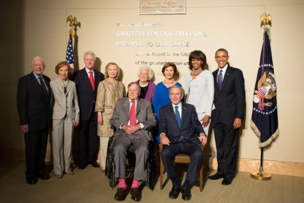 Todos los presidentes estadounidenses vivos se reunieron en Dallas, en u...