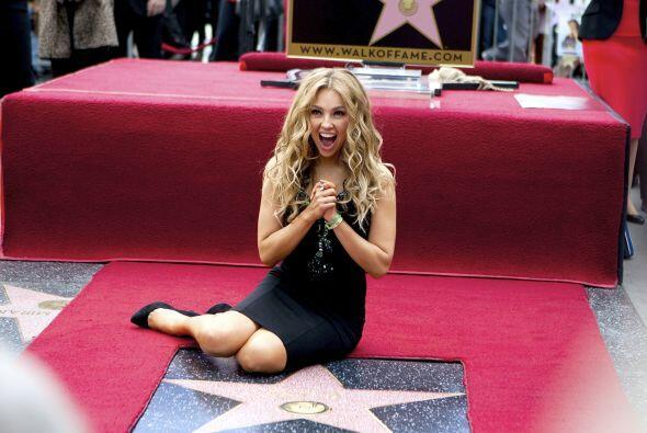 Y Thalía tiene la suya en el Paseo de la Fama en Hollywood.