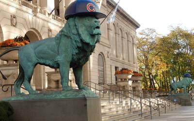Hasta los leones están festejando el triunfo de los Cachorros