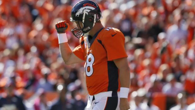 """Peyton Manning va por la marca de """"El General"""" de 508 pases de touchdown..."""