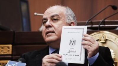 Los opositores al presidente Mohamed Morsiplanean un mitin masivo frent...