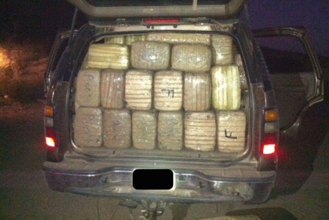 Los agentes fronterizos encontraron la droga en una camioneta en el desi...