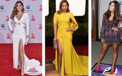 Estas celebridades latinas enamoran con sus looks. A veces atrevidas, en...