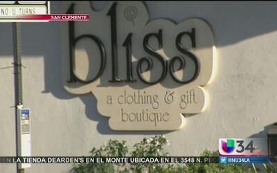 Investigan tiroteo en una boutique de San Clemente