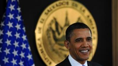 El presidente Obama, durante su visita a El Salvador.
