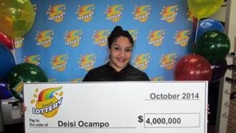 Deisi Ocampo se pego con $4millones en la lotería de Illinois