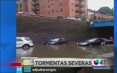 Severas inundaciones en algunas zonas