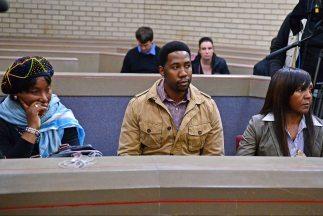 Makaziwe Mandela, hija de Nelson Mandela (Izquierda), Ndaba Mandela, nie...
