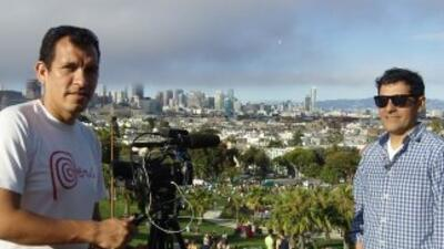 Aquí Roberto Pazos se reúne con peruanos en San Francisco, California pa...