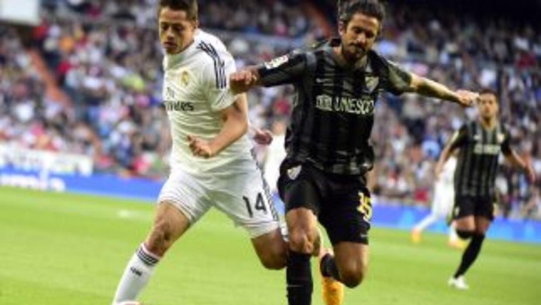 Chicharito dio una asistencia contra el Málaga.