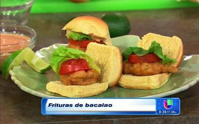 Frituras de bacalao con el chef Pepin y Carlos Vives en Despierta América