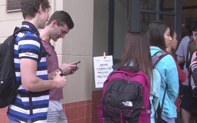 Estudiantes de la Universidad de Texas participaron masivamente en las e...