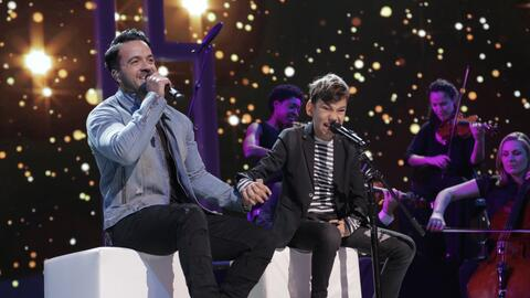 Adrián Martín y Luis Fonsi en Teletón USA