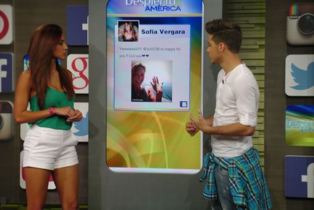 Gaby Álvarez también estaba encantada con lo fácil que es ver las fotos...
