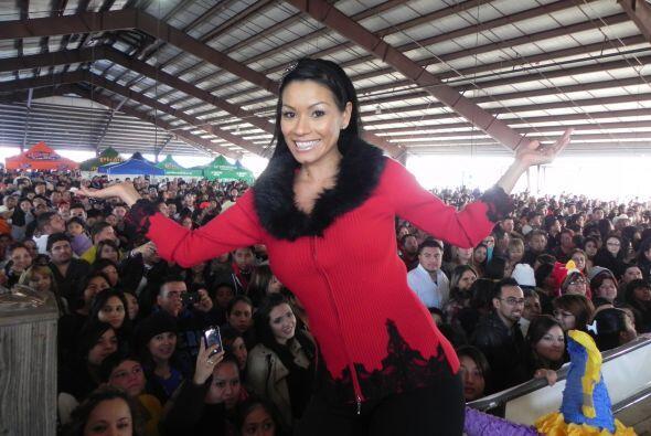 Aquí vemos a Columba en Fiestas Navideñas en Houston.