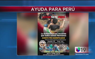 Evento para recaudar fondos en ayuda a Perú