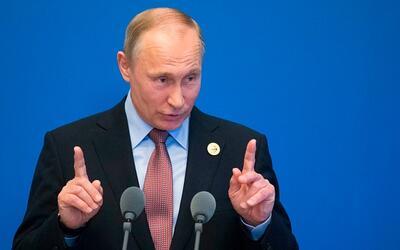 El presidente Vladimir Putin en un evento en Pekín el 15 de mayo...