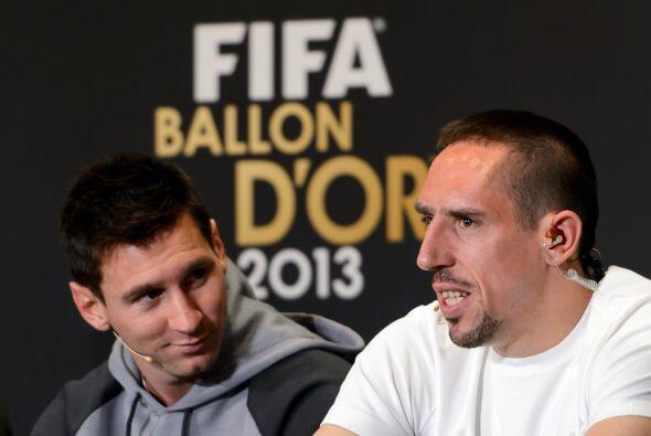 Messi sonreía ante algunas declaraciones del hombre del Bayern Mu...