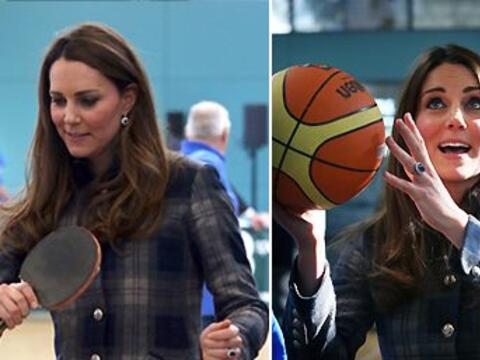 Kate Middleton estuvo de visita en Escocia con el prícinpe William.