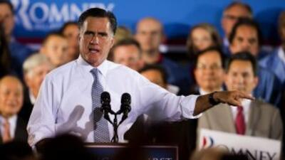 El virtual candidato presidencial republicano, Mitt Romney, volvió a cri...