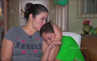 Madre e hijo se reencontraron en EEUU
