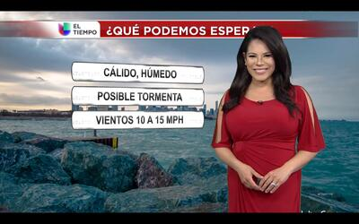 Jueves cálido pero con posibles tormentas