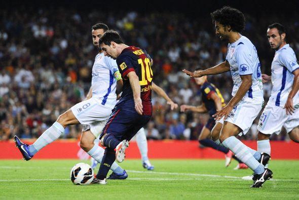 Luego llegó este tiro de Messi.