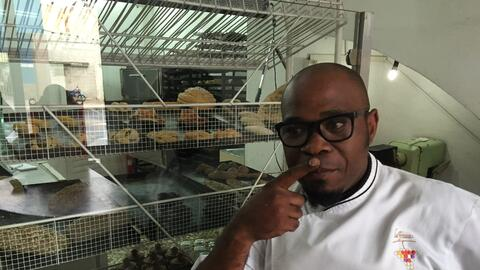 Havana chef Alfredo Gonzalez, 44, started his own pastry shop but has to...