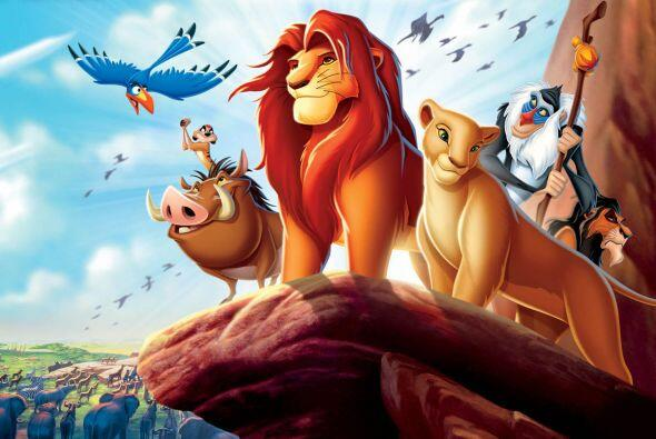 """Pero sí se trata de ver un clásico la elegida siempre será """"El rey león""""..."""